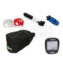 Kit Accesorios Bicicleta Mountain Bike Computadora Inflador