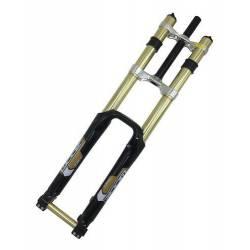 Horquilla Doble Cristo 26 Downhill Descenso 180mm Recorrido