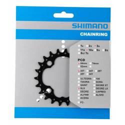 Engranaje Bicicleta Mtb M672 Bcd 64mm 22 Dientes Shimano Slx