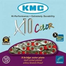 Cadena Bicicleta Kmc X10 Color 10v Missing Link Shimano Sram
