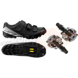 Combo Zapatillas Ciclismo Mtb + Pedal Automatico Shimano 520