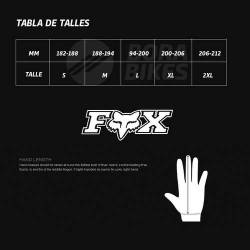 Guantes Fox Ciclismo Flexair Dedos Largos Mx Touch Pad Bora