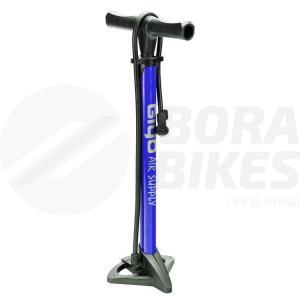 Inflador Pie Acero Reforzado Bicicleta Giyo Gf-37 Azul Bora