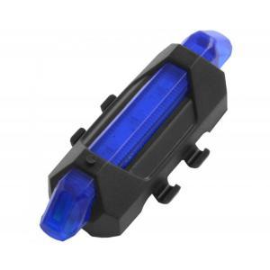 Luz Led Bicicleta Usb Trasera Delantera Lluvia 15 Lumen Azul
