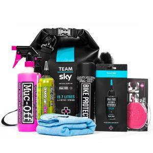 Kit Limpieza Bicicleta Muc Off Team Sky Dry Bag Shampoo Bora