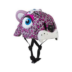 Casco Niños Infantil Bici Crazy Safety Skate Pink Leopard